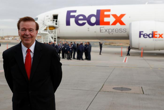 CEO and President of Fedex Express David J. Bronczek poses following the presentation of the future extension of the FedEx hub in Roissy-en-France, North of Paris, France, October 18, 2016. Picture taken October 18, 2016.  REUTERS/Philippe Wojazer